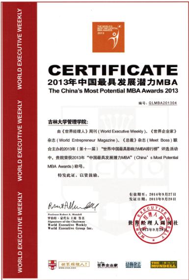 吉林大学MBA(无锡/苏州班)开始提前预审