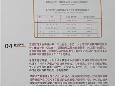 重庆大学工程管理硕士MEM(双证)2022招生简章