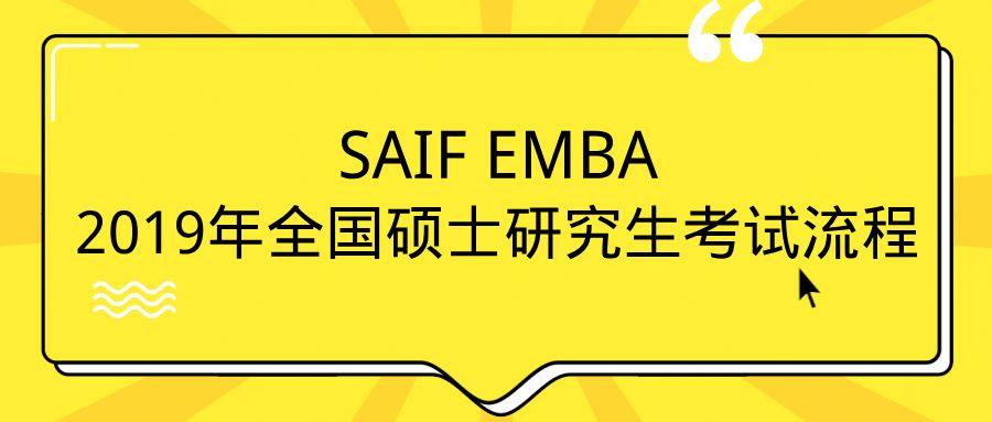 SAIF EMBA | 2019 全国联考报名流程,考生请收藏