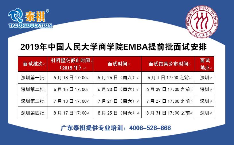 2019年中国人民大学商学院 高 级 管理人员工商管理硕士(EMBA)研究生招生简章