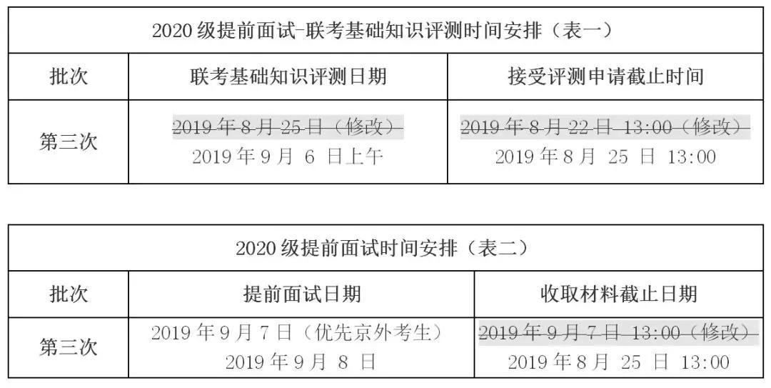 关于2020级清华大学工程管理硕士(MEM)提前面试场次 及提前面试时间调整的通知